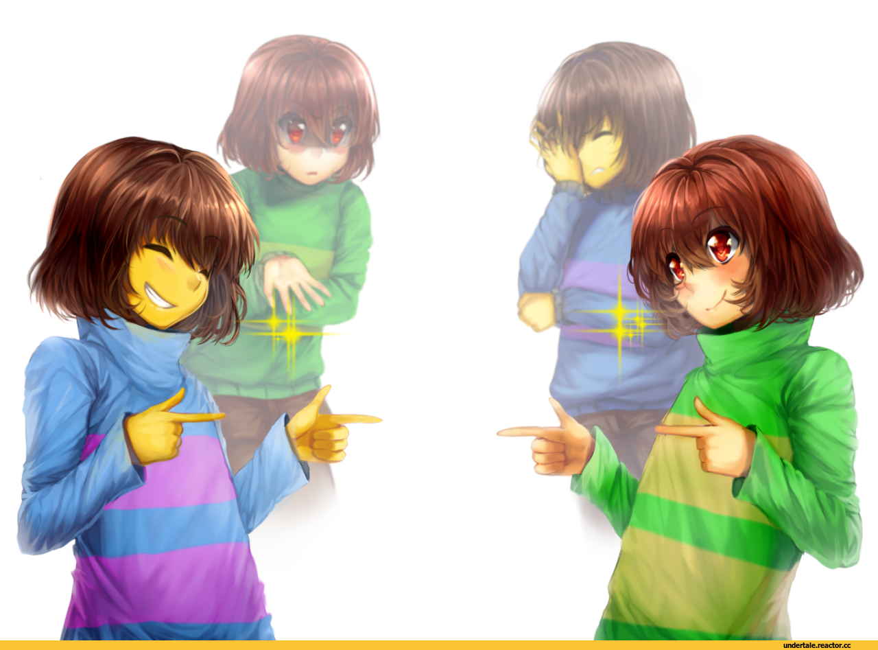 undertale frisk and chara and underswap chara and frisk undertale