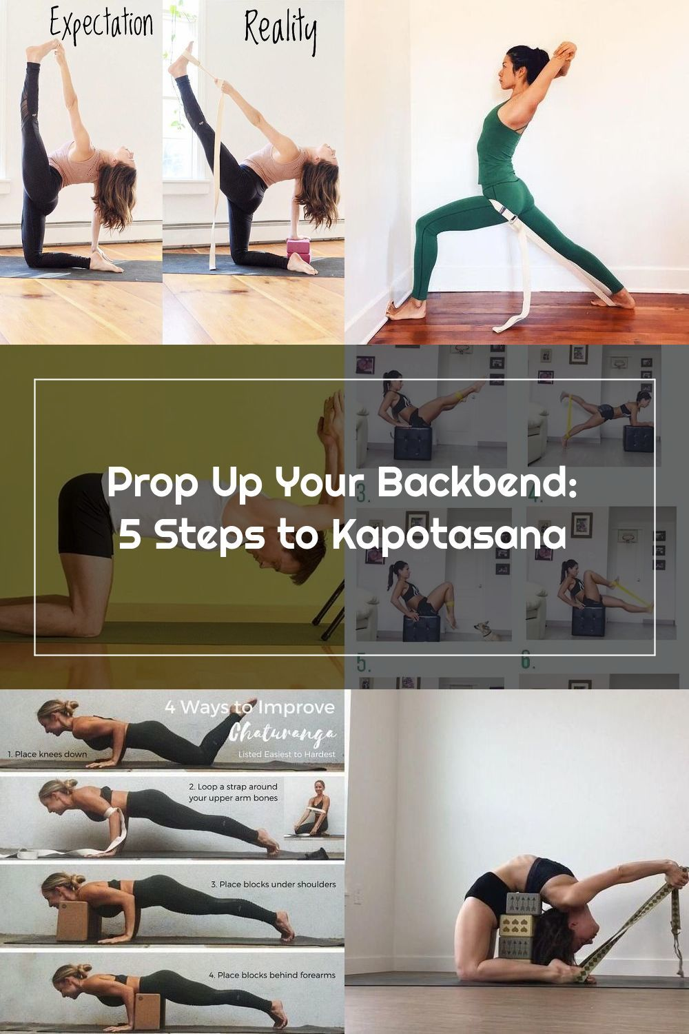 Try Yoga Backbends With Props Block Chair Backbends For Kapotasana In 2020 Yoga Backbend Kapotasana Iyengar Yoga