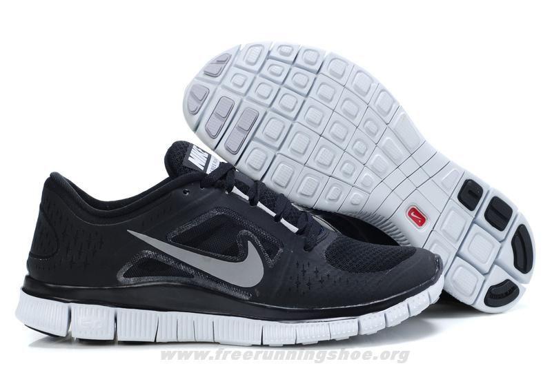 Mens/Womens Black/Silver Nike Free Run+ 3 Shoes