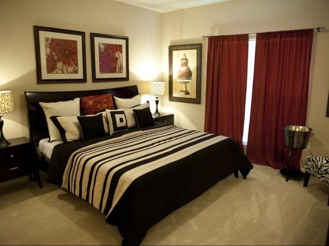 red and black bedroom. this is our EXACT bedset and we are ...