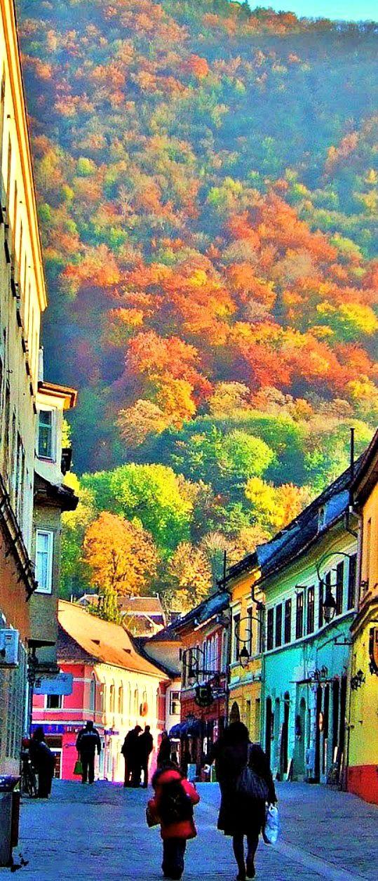 Braşov a city from Transylvania, Rumania. Brasov unites gothic, baroque and Renaissance architecture.