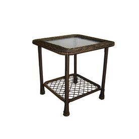Garden Treasures Severson Square Wicker Gl Top Side Table At Lowe S Canada Find Our Selection Of Outdoor End Tables The Lowest Price Guaranteed
