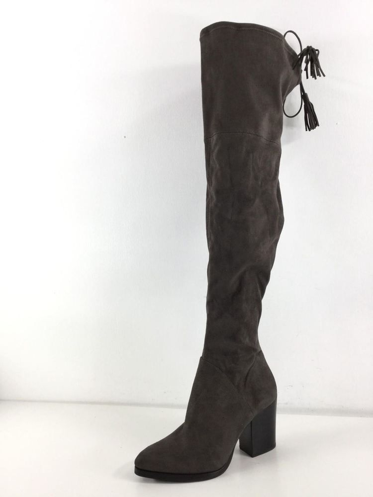 11f31c500fd 1930 Marc Fisher Alinda Dark Grey Suede Over The Knee Tall Boots Women s Sz  7.5M  fashion  clothing  shoes  accessories  womensshoes  boots (ebay link)