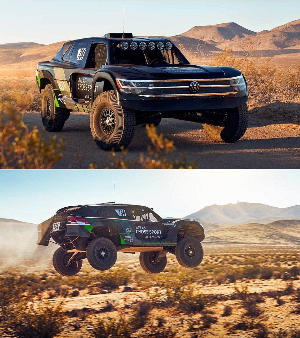 VW Atlas Cross Sport R Concept will compete in the Baja