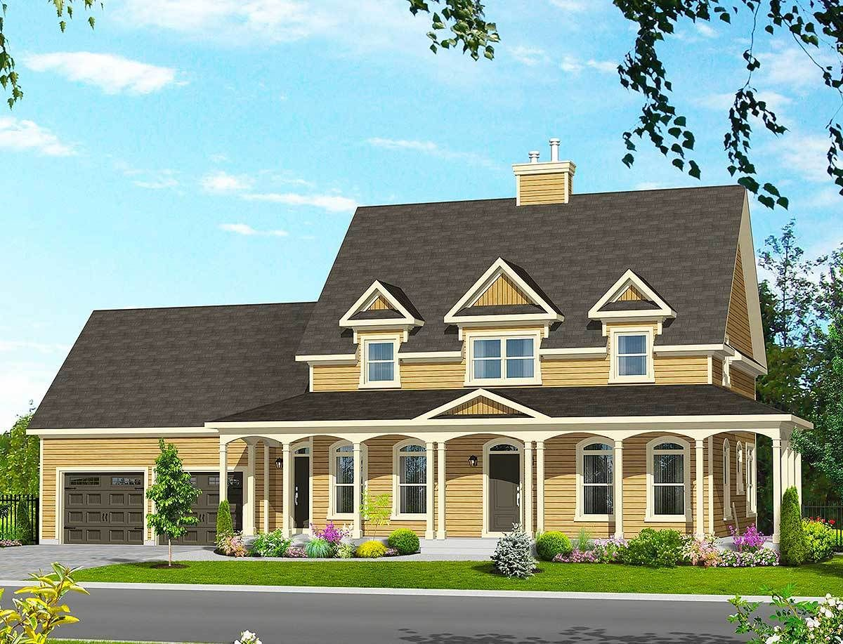 Plan pm country house plan with wraparound porch country