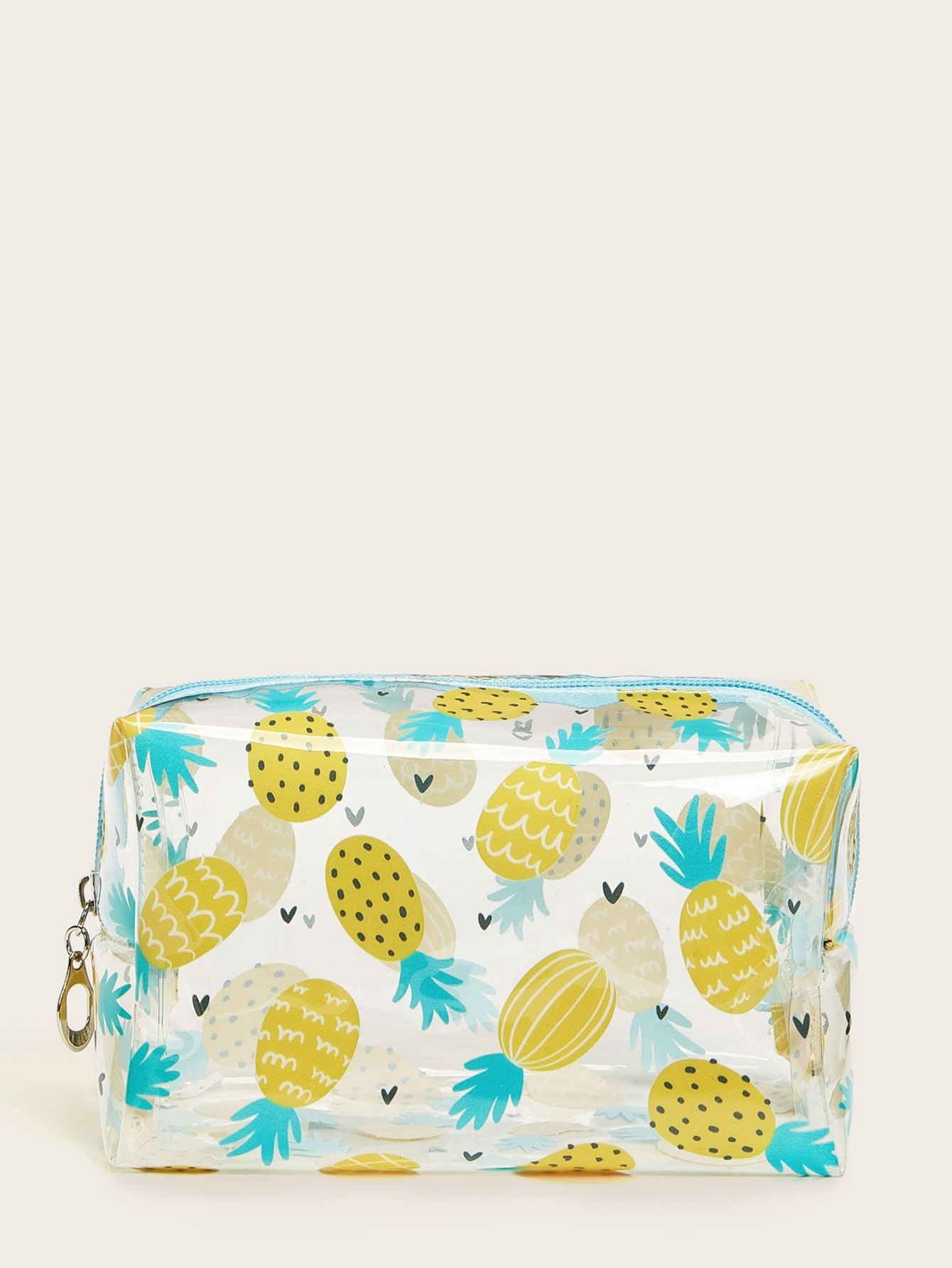 Pineapple Pattern Transparent Makeup Bag (With images