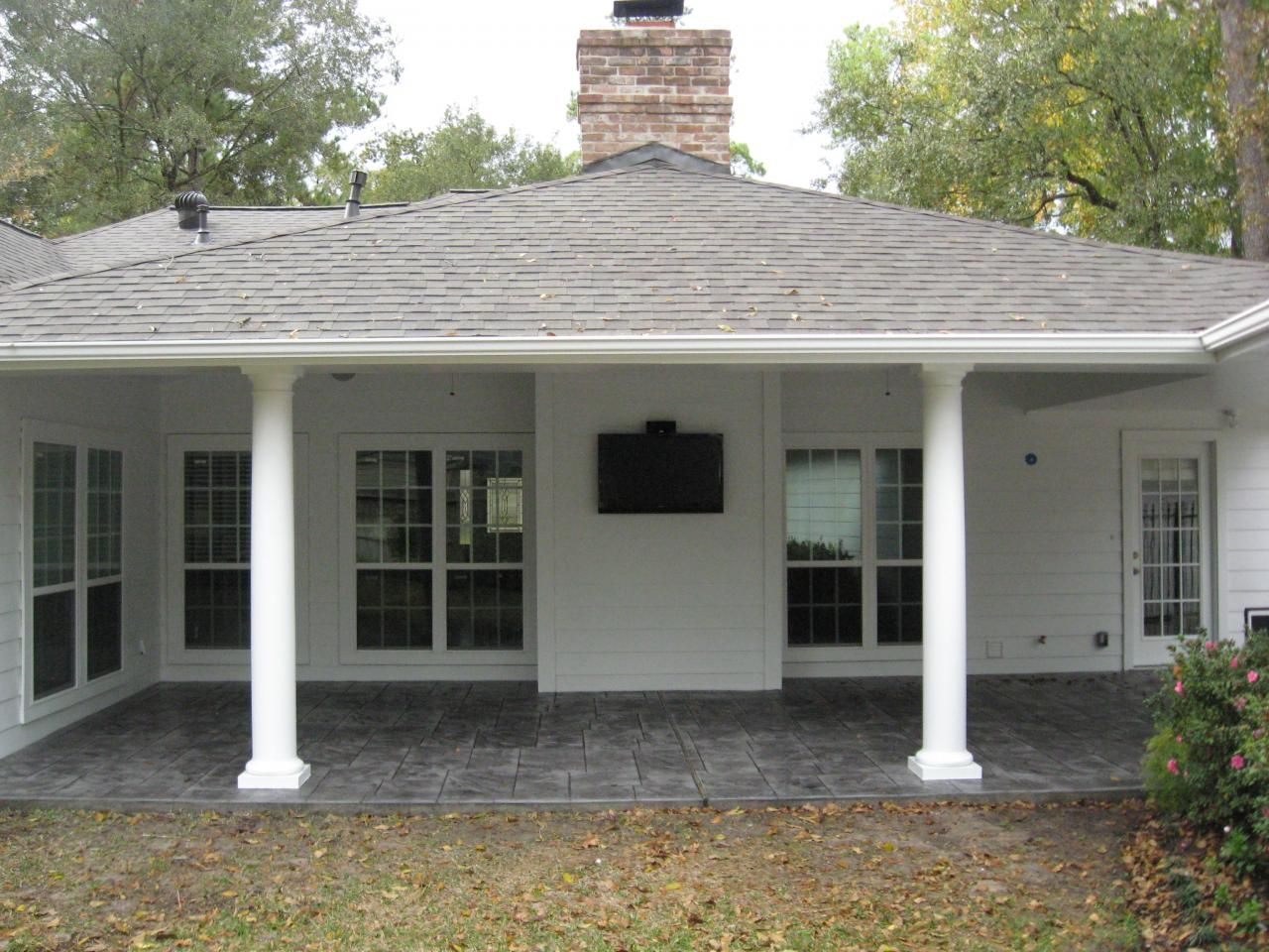 Stamped Concrete Patio Houston | Patio Cover / Stamped Concrete
