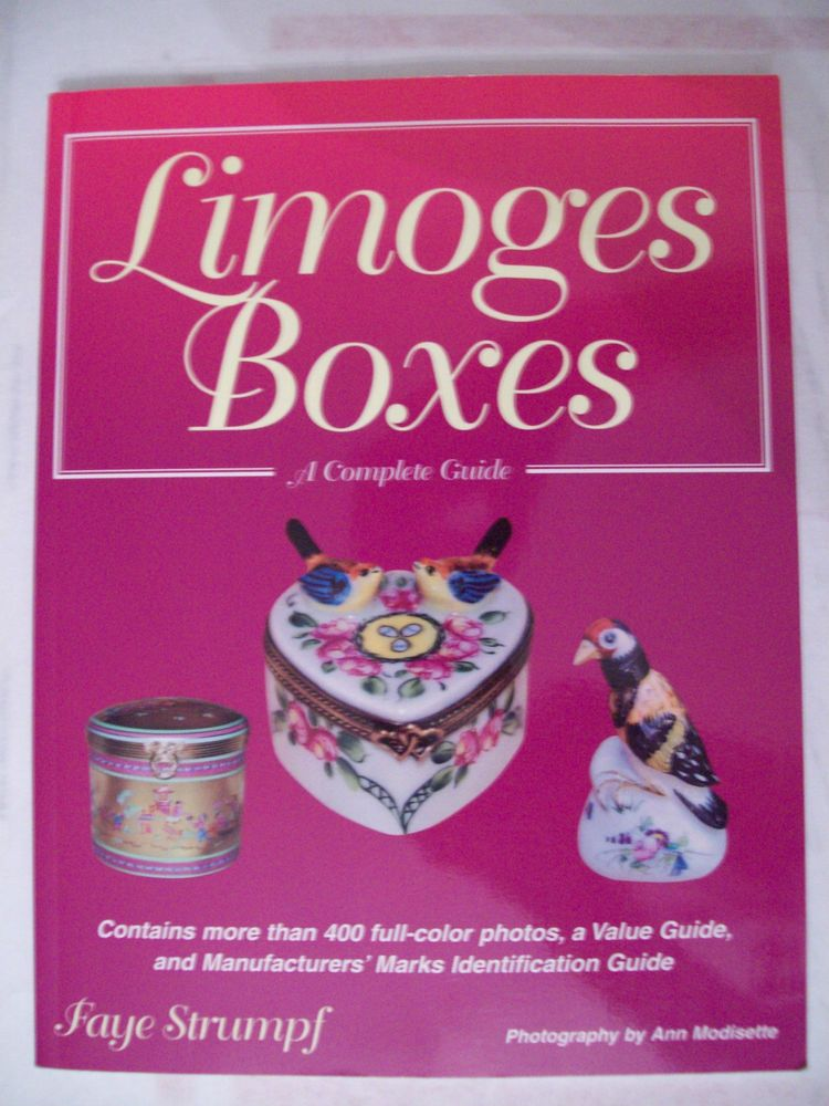 VINTAGE LIMOGES BOX $$$ id PRICE GUIDE COLLECTORS BOOK Color Pics ...