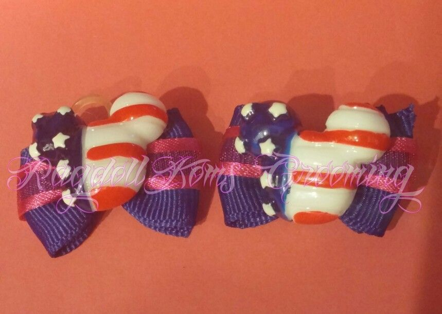 These patriotic Mickey bows were a huge hit with my clients!  They loved them!