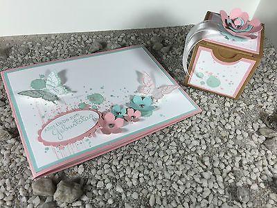 handgefertigte 3D Glückwunschkarte zum Geburtstag mit Geschenkbox Stampin' Up!