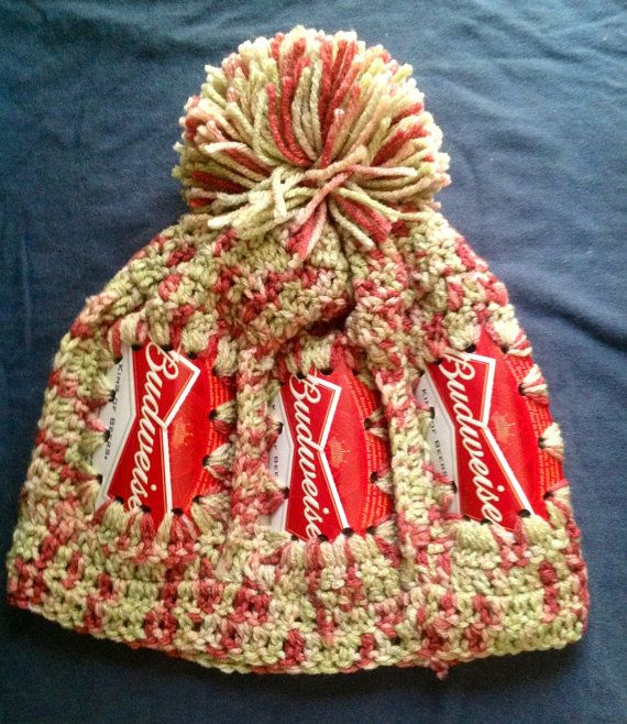 590eb651361 Budweiser hat made with Beer Cans by EarthlyDesigns2 on Etsy