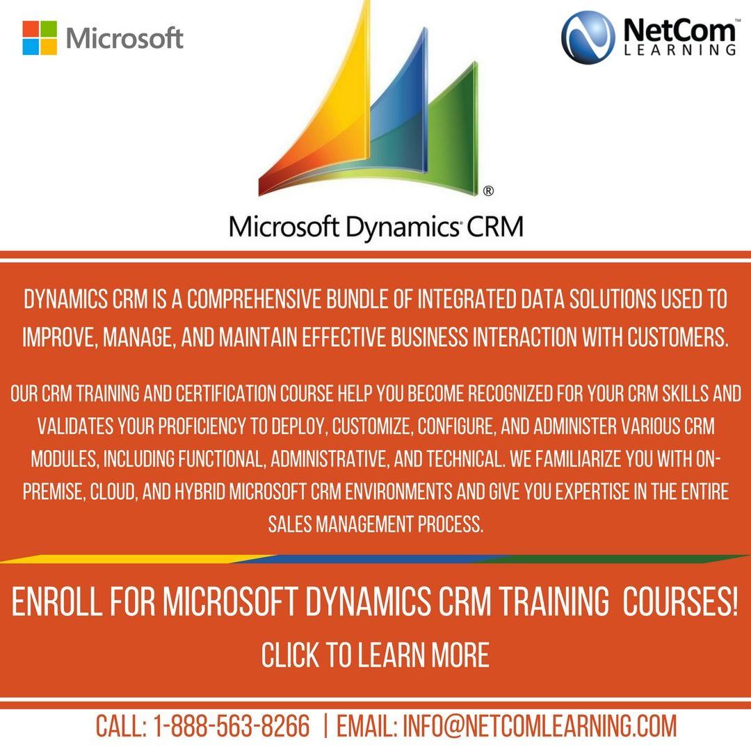 Learn Microsoft Dynamics Crm With Netcom Learning Training