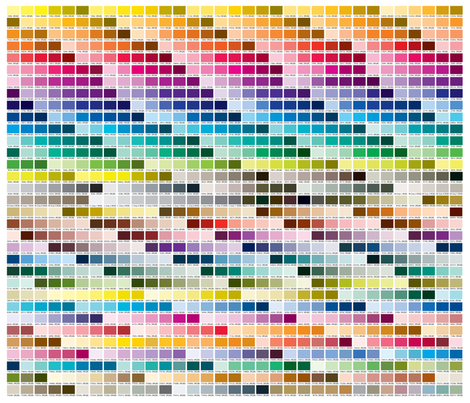 Colorful Fabrics Digitally Printed By Spoonflower Pantone Coated Color Chart 1 Yard Pantone Color Chart Pantone Pms Color Chart