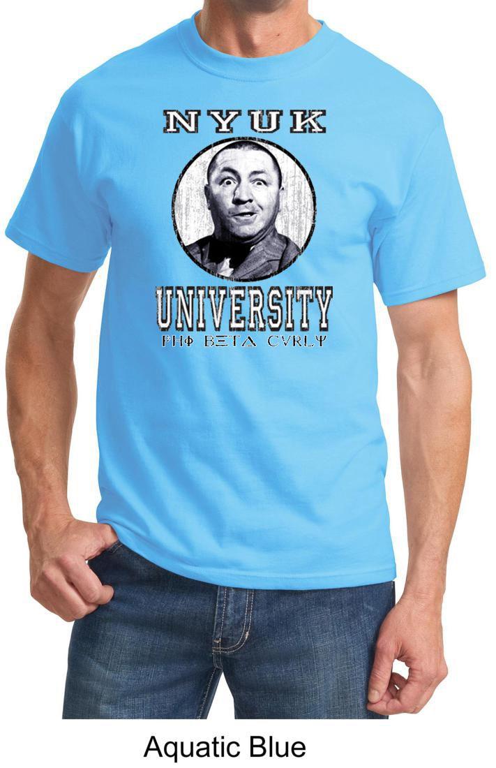 5f550300 Three Stooges T-shirt NYUK University Adult Tee Shirt Three Stooges T-shirts  Curly NYUK University Funny Tee Shirts This Three Stooges T-shirt