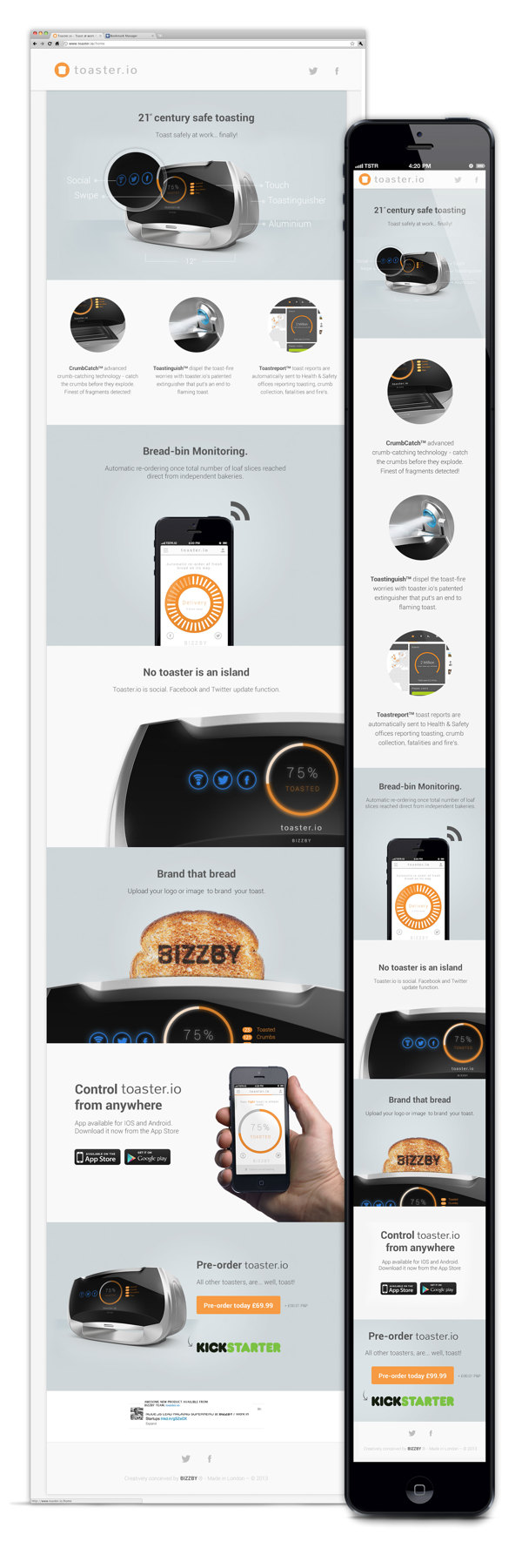 toaster.io by Ashton Snook, via Behance