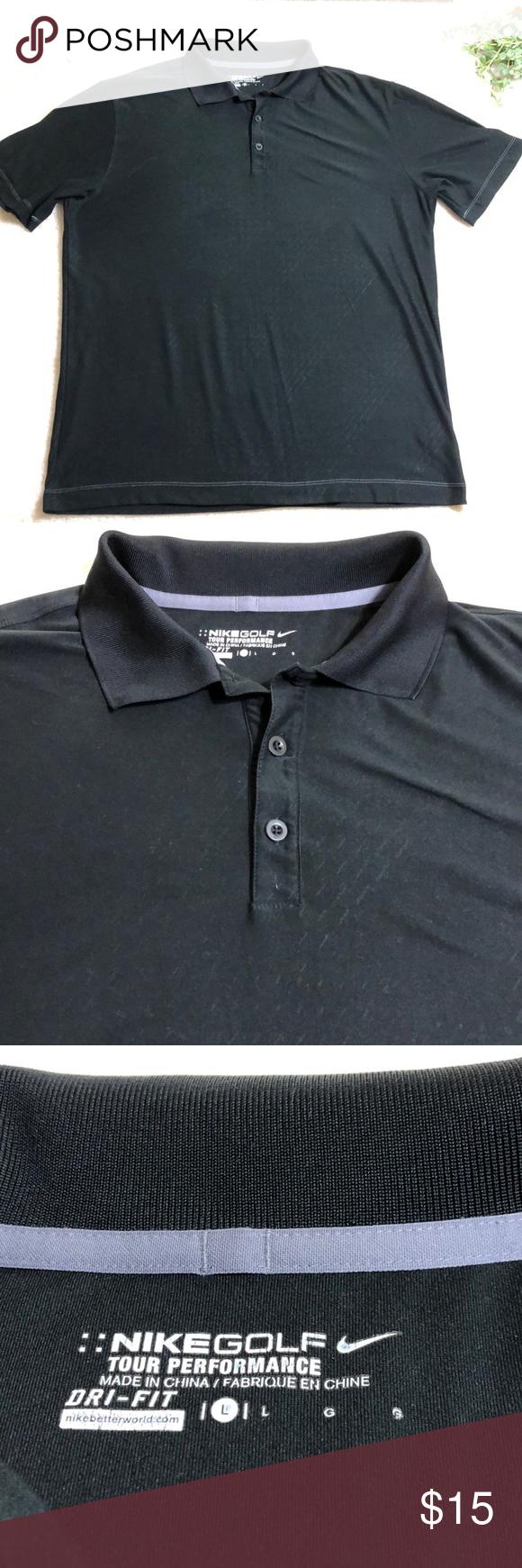 Nike Golf Mens Drifit Tour Performance Polo Shirt Performance Polos Shirts Polo Shirt