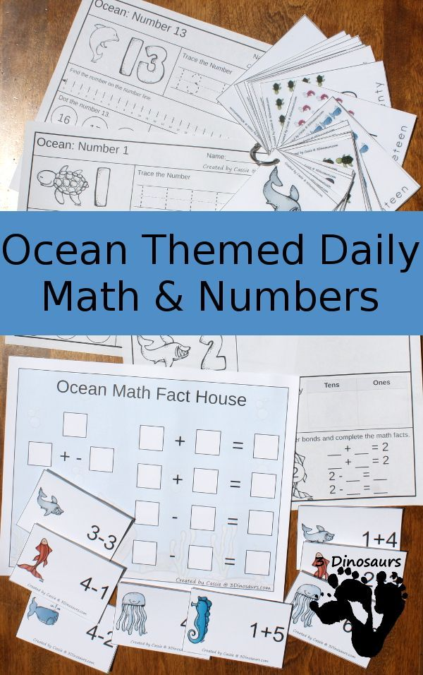Ocean Daily Number & Math For the Summer | Math facts, Math and Ocean