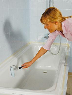 fliesen lackieren badewanne streichen schritt f r schritt anleitung jaegerlacke. Black Bedroom Furniture Sets. Home Design Ideas