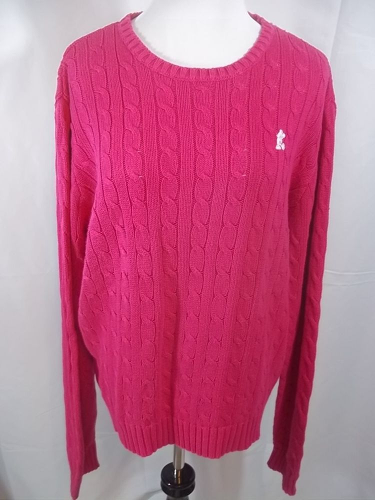 Womens Walt Disney World 2XL 2 X Large Pink Sweater Cable Knit ...