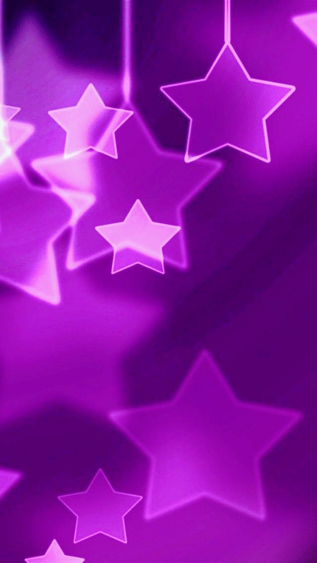Purple stars flowery wallpaper star cellphone mobile backgrounds also by artist unknown parede papeis de rh