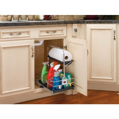 Handle Adjusts To Go Around Under Sink Pipes The Whole Thing Lifts Off To Take Around With You As You Clean Rev A Shelf Under Kitchen Sinks Kitchen Sink Caddy