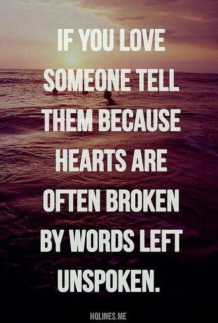 Words unspoken.