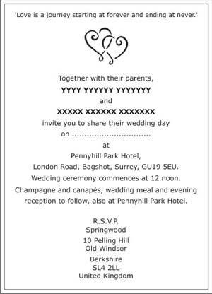 Wedding Invitation Wordings In 2019