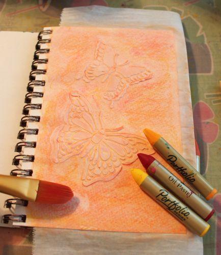 Gesso and Stencils - Lynda Heines Fabric Design