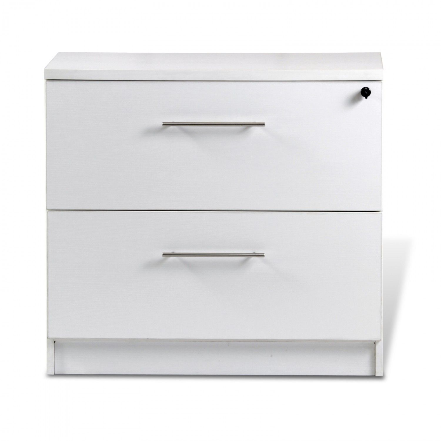 Unique 100 Collection 2 Drawer Lateral File Cabinet White Filing Cabinet Cheap Office Furniture Lateral File Cabinet