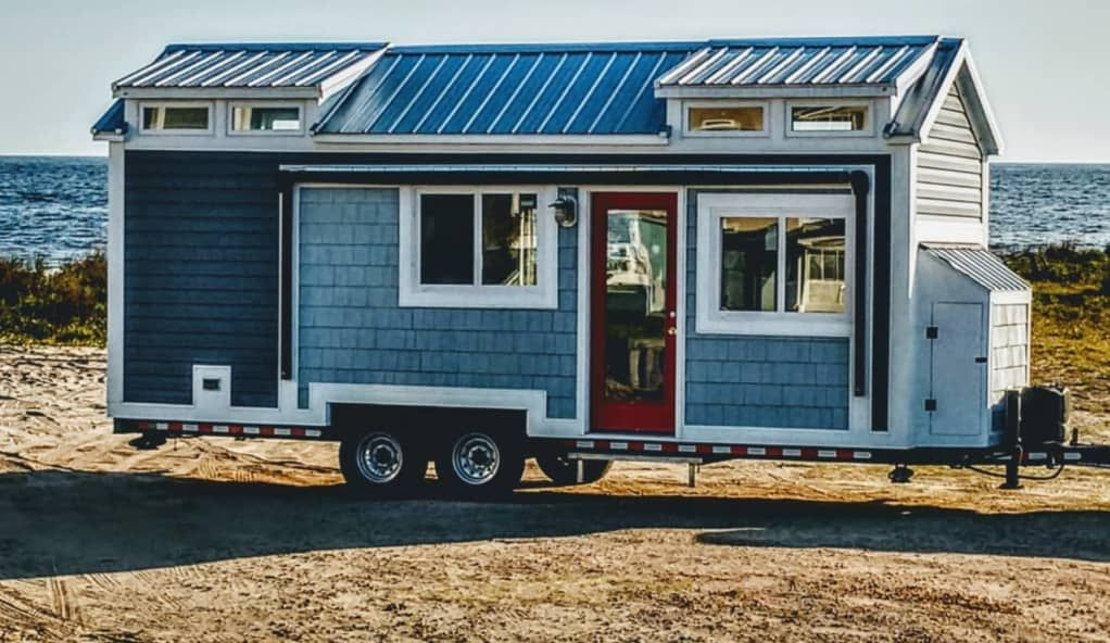 Coastal tiny house with steel frame tiny house for rent