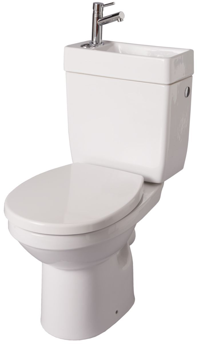 Pack Wc Avec Lave Mains Integre Doppio 2 Blanc Lave Main Wc Lave Main Toilettes
