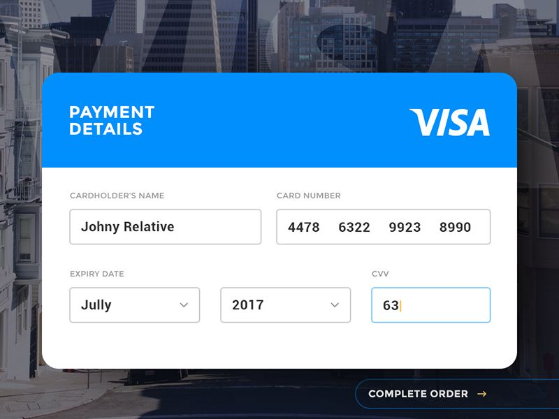 Day 004 - Credit Card Payment Card ui, Ui ux and User interface - credit card payment calculator
