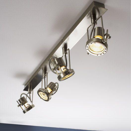 Rampe 4 Spots Gu 10 4x42w Acier Technic Inspire Spot Luminaire Luminaire Interieur Luminaire