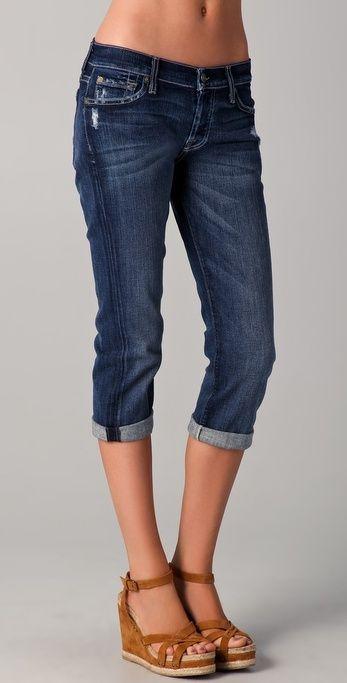 7 For All Mankind Josefina Boyfriend Crop Jeans Thestylecure Com