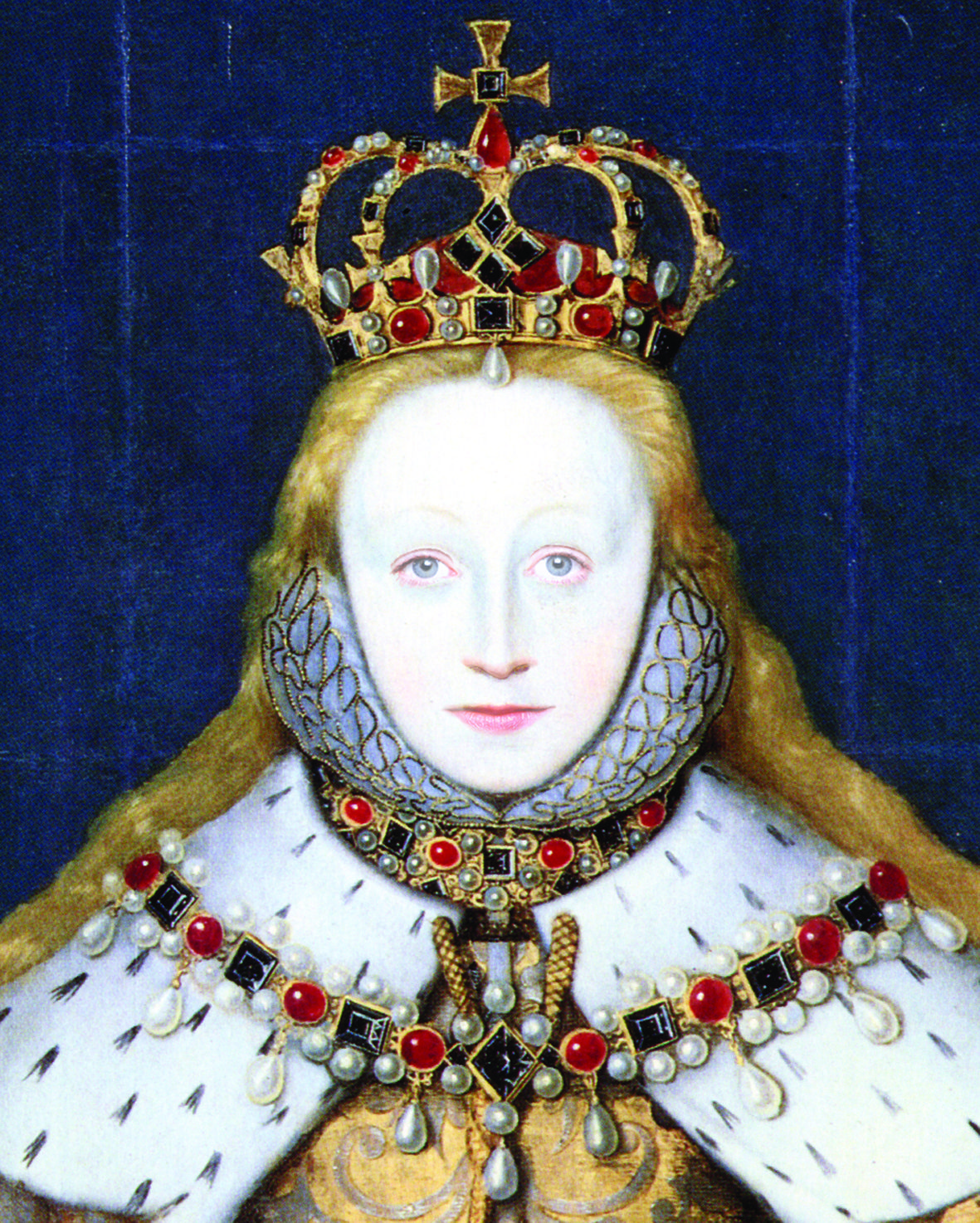 Young Elizabeth Elizabeth I in her coronation robes ...
