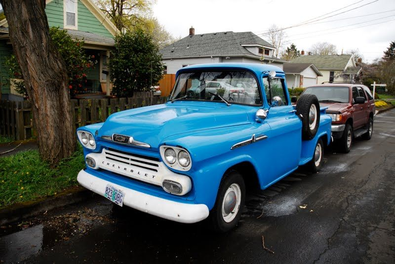Old Parked Cars 1958 Chevrolet Task Force Apache 31 Pickup