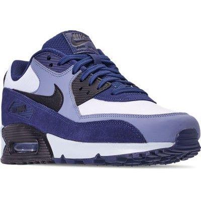 promo code 56a78 29429 Nike Air Max 90 Leather, Blue Void  Black-Ashen Slate