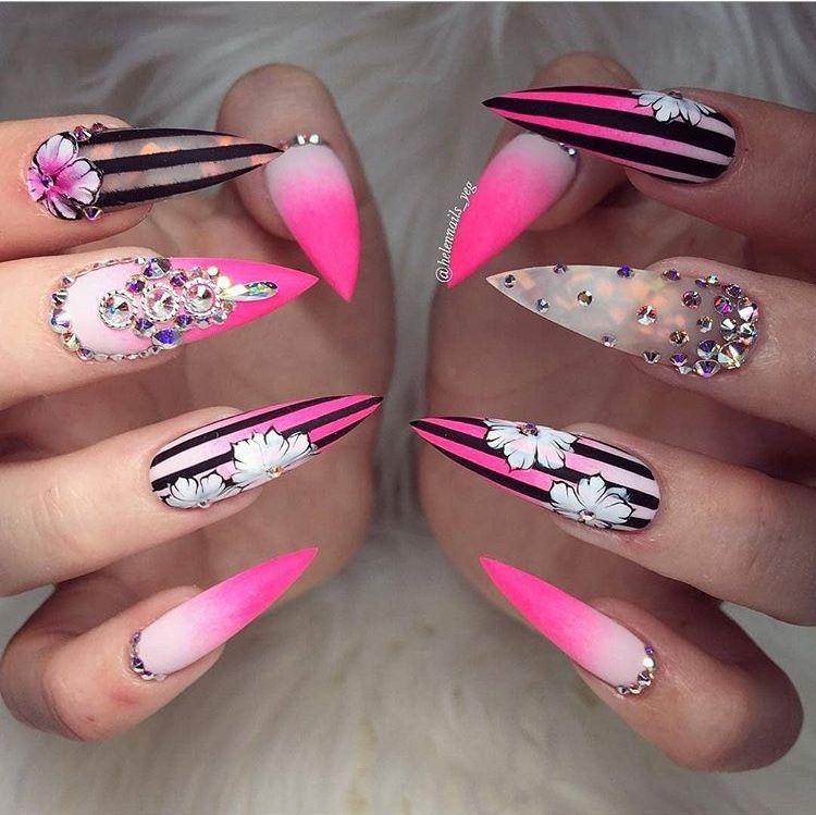 Pinterest Starrhennessy Stiletto Nail Art Nail Art