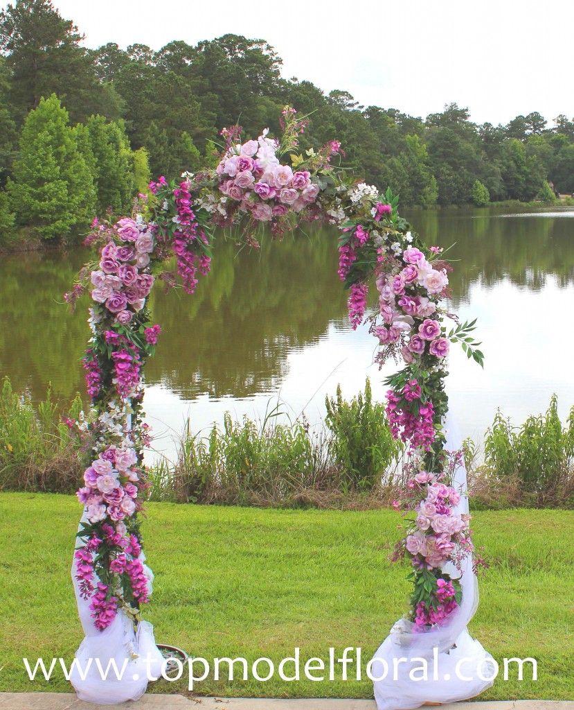 Purple Wedding Arch Decoration Ideas: Vintage Rose Wedding Arch