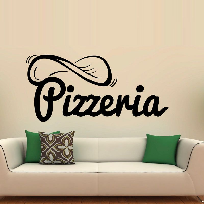 Nice Creative Design Pizzeria Wall Stickers Pizza Restaurant Home Decoration New  Arrival PVC Wall Decal Sticker Idea