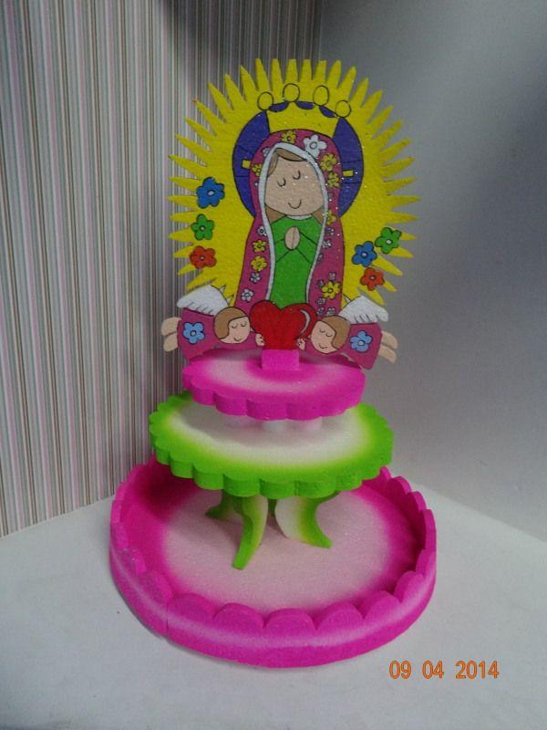 Decoracion Primera Comunion Virgen De Guadalupe ~ en icopor de La Virgen de Guadalupe para Primera Comuni?n de