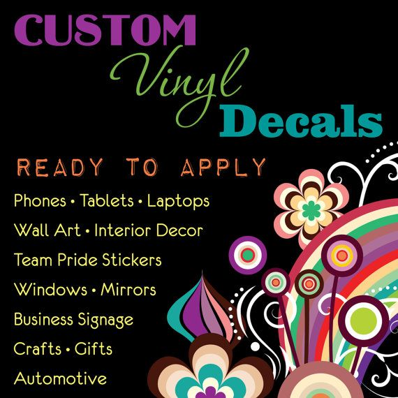 CUSTOM VINYL DECAL Sticker Personalized Made By STICKITdedoda - Custom vinyl record decals