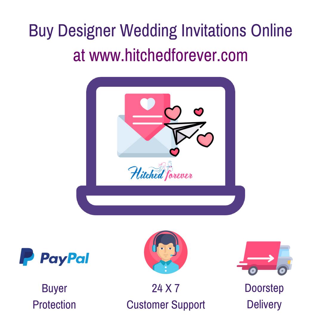 Buy Wedding invitations online. Designer Indian wedding cards ...