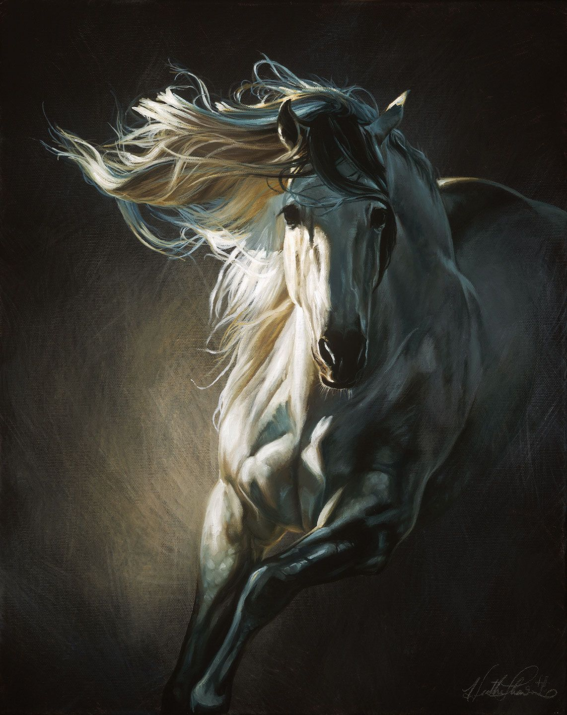 By Moonlight By Heather Theurer Horse Painting Equestrian Art