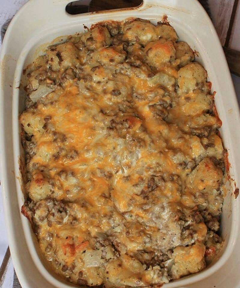 Pin by Kerry W on food to eat | Tater tot casserole, Sour ...