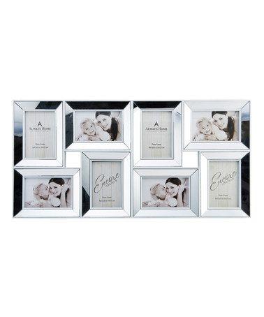 $18 Look what I found on #zulily! White Mirror Eight-Photo Collage ...