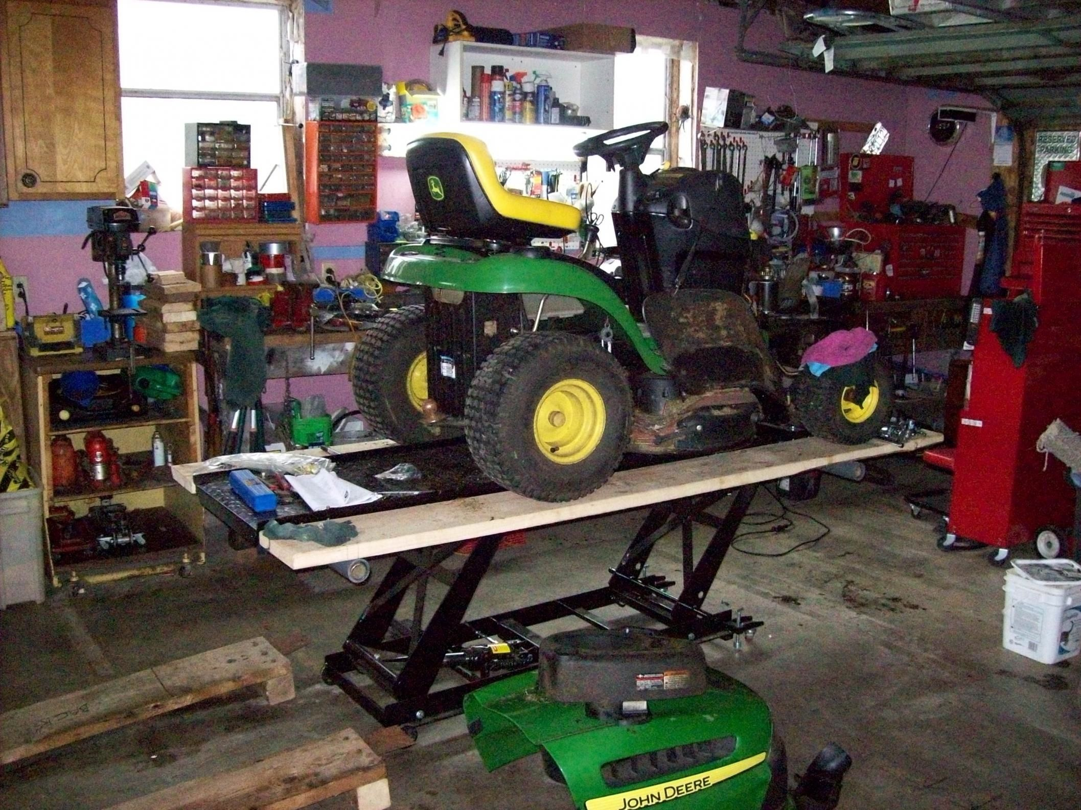 Lawn Tractor Lift By Robbygordon Hello Bought A