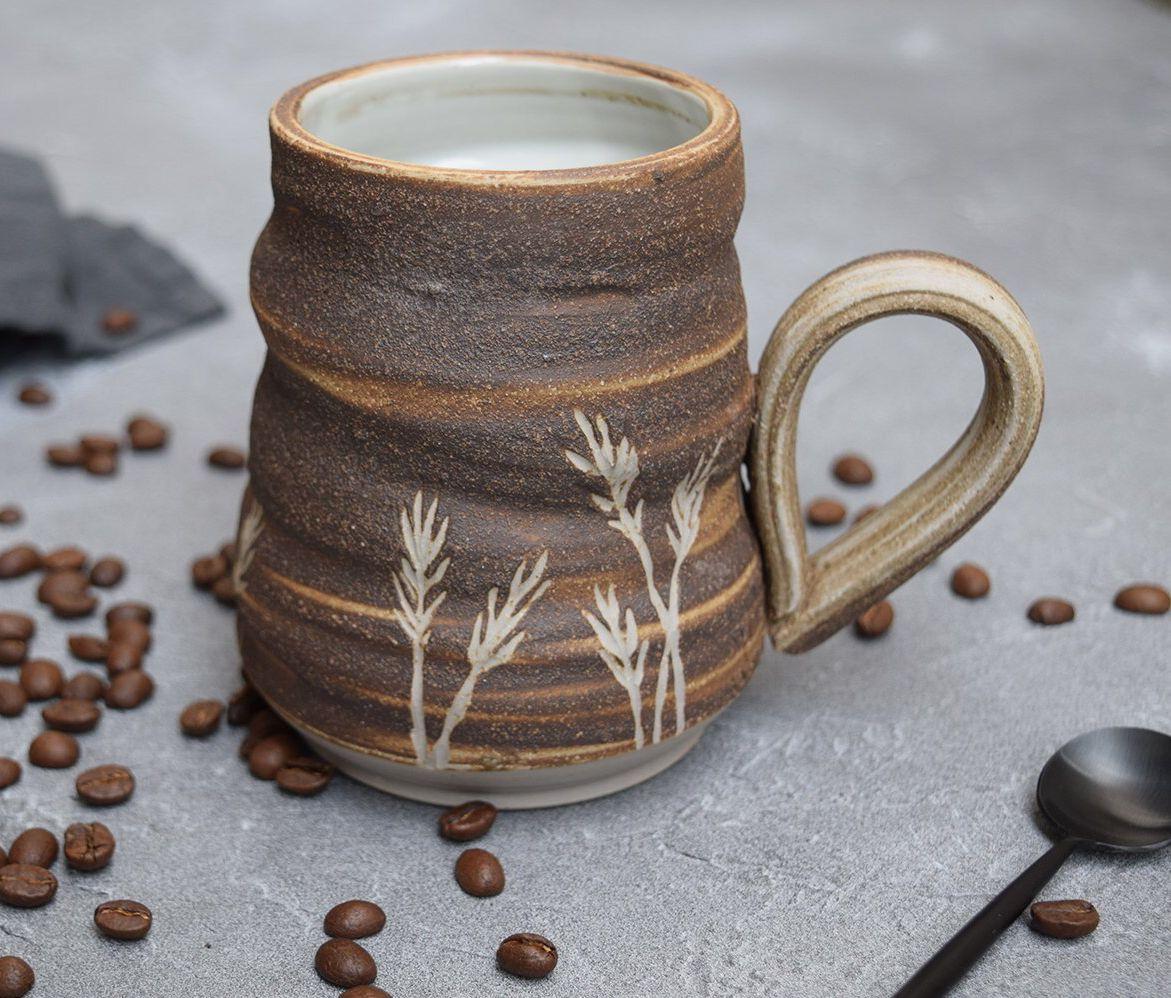 Studio Pottery Mug Stoneware Pottery Mug Coffee Mug Ceramic Etsy Stoneware Pottery Pottery Mugs Pottery