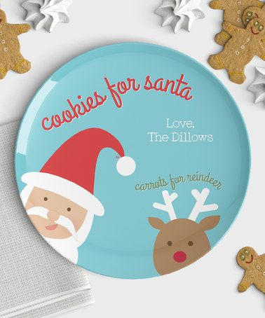 Another great find on #zulily! 'Cookies for Santa' Personalized Plate #zulilyfinds