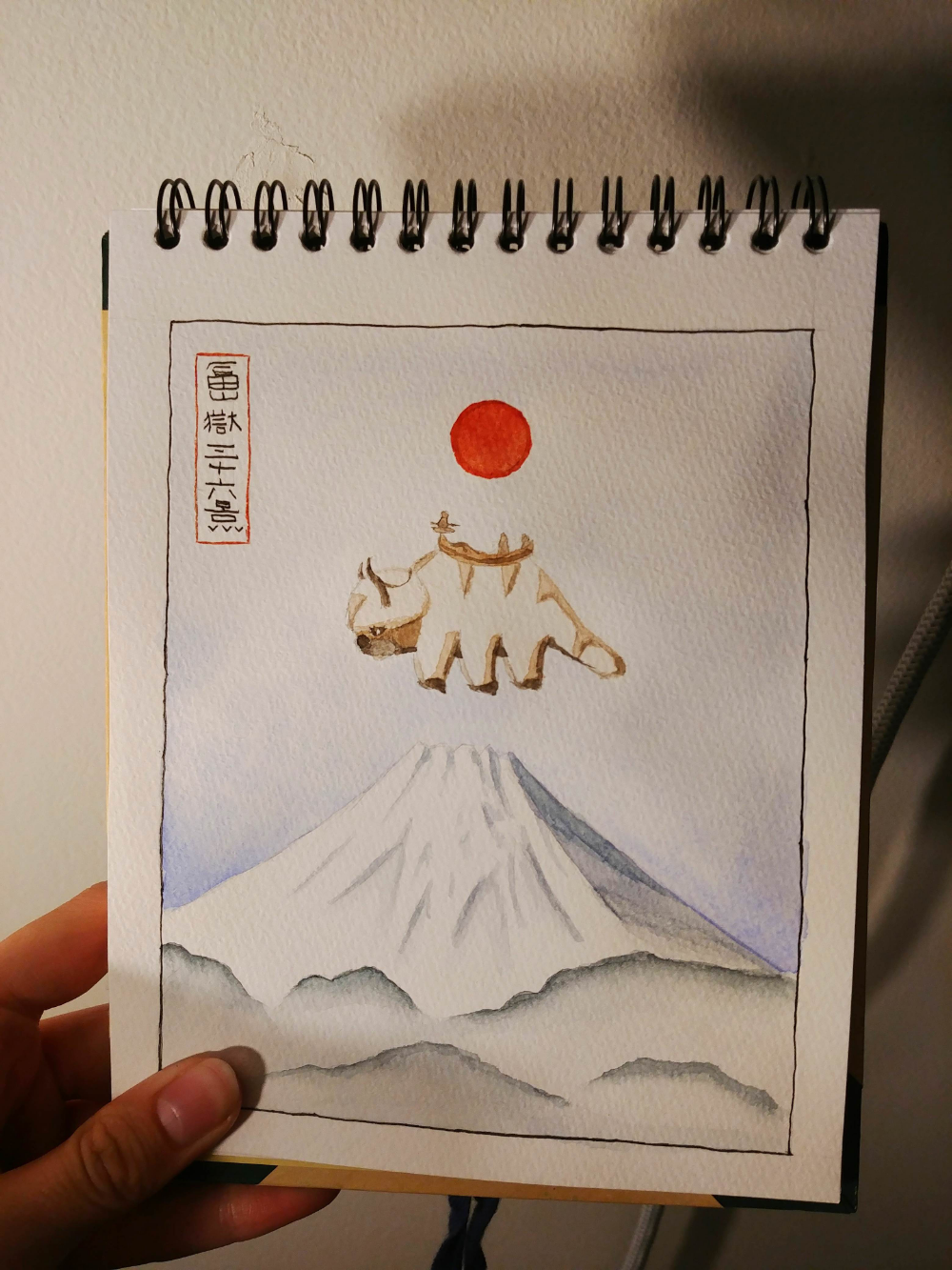 I did a little watercolor of Appa from Avatar the Last Airbender! #avatarthelastairbender